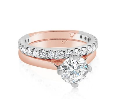 Rose Gold Engagement and wedder